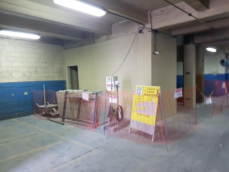 Construção Cabine Elétrica para Sistema Fuga Terra de Sala Fornos