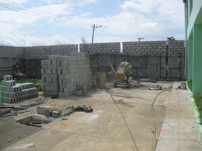 Construção de parede divisória