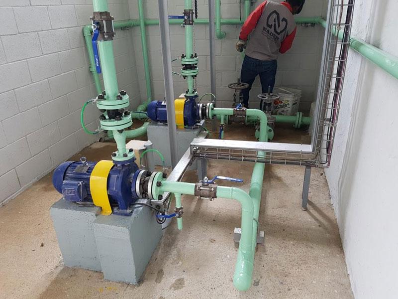 Construção de Sala de Bombas de água