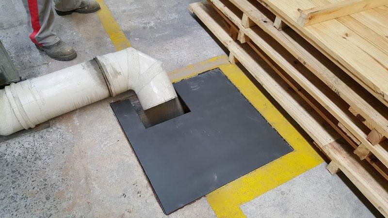Tampas metálicas de caixas de passagem de drenagem pluvial Industrial