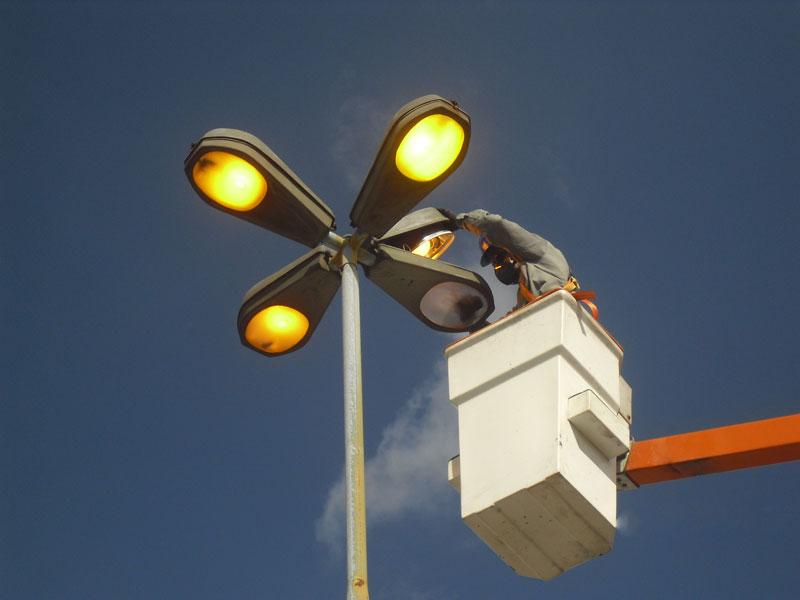 Manutenção de iluminação de ruas