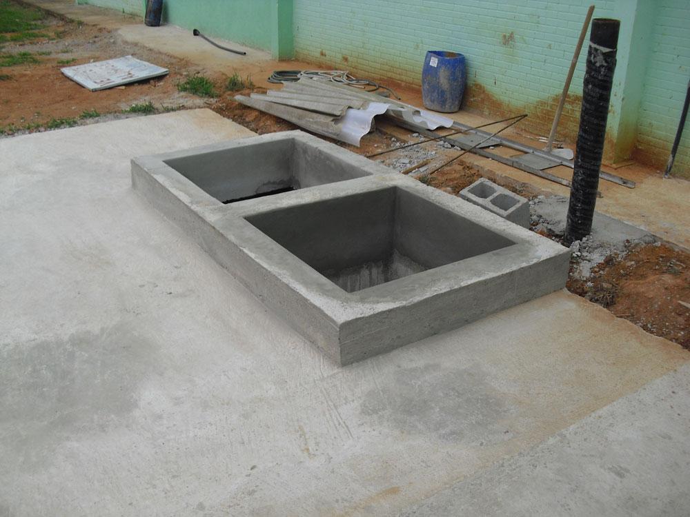 Poço e base para Torre de Resfriamento